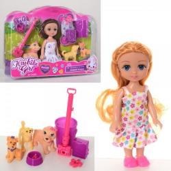 Кукла 15 см., cобачки 3 шт. от 4 см., аксеccуары, BLD234