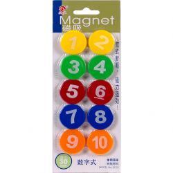 Набор магнитов COLOR-IT с цифрами 3см 10 штук разноцветные 3010циф