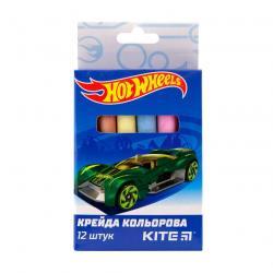 Мел цветной 12 шт.12 шт.  Hot Wheels  Kite HW19-075