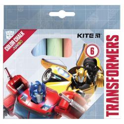 Мел цветной 6 шт. Jumbo  Transformers  Kite TF21-073