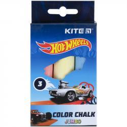 Мел Kite Jumbo Hot Wheels  3 шт. цветной HW21-077