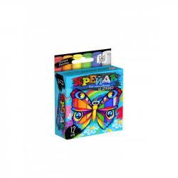 Мелки для рисования на асфальте Danko Toys 12шт. тонкие ДТ-МЛ-15-18