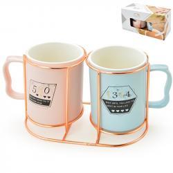 Набор подарочный Stenson You 2 чашки на подставке, R88445