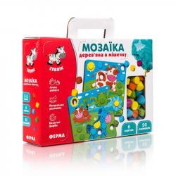 Мозаика деревянная Vladi Toys Ферма, ZB2002-01