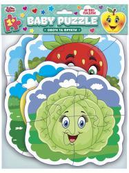 Мягкие пазлы. BABY PUZZLE. Овощи и фрукты Чудик 443806