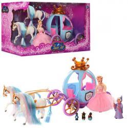Карета, кукла Золушка, 2 лошади, фея, мыши, 201