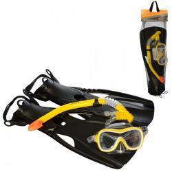 Набор для подводного плавания 3 в 1 Intex маска (L) трубка и ласты от 37 размера, 55658