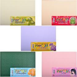 Набор картона дизайнерского А4 7 листов текстурованыйМандарин КЦ063