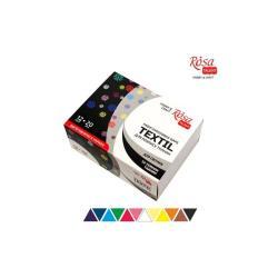 Набор акриловых красок по ткани 12 цветов 20 мл ROSA TALENT 134122