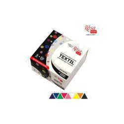 Набор акриловых красок по ткани 9 цветов 20 мл ROSA TALENT 134920