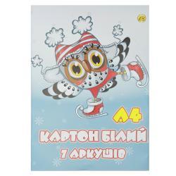 Набор белого картона А4 7 листов Тетрада Ш-4141
