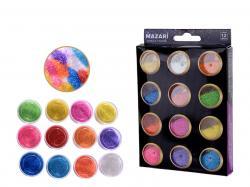 Набор блесток для творчества 12 цветов SULTANI ST 4470