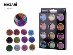 Набор блесток для творчества 12 цветов SULTANI ST 4471