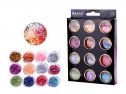 Набор блесток для творчества 12 цветов SULTANI ST 4472