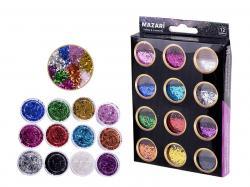 Набор блесток для творчества 12 цветов SULTANI ST 4473