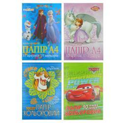 Набор бумаги цветной А4 10 листов  Disney  Тетрада ТЕ12049