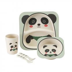 Набор детской посуды Stenson  Панда  бамбуковый 5 предметов, MH-2770-7