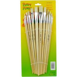 Набор кистей для рисования 12 шт. нейлон Peppy Pinto, AB-12