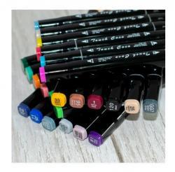 Набор маркеров Wild&Mild двусторонних 24 цвета, ST00875