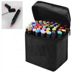 Набор маркеров Wild&Mild двусторонние 60 цветов черный корпус, ST02304