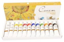 Набор масляных красок 12 цветов 10 мл  Сонет  200599