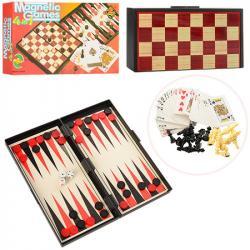 Набор настольных игр Шахматы 4 в 1, 9841