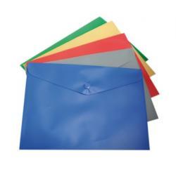 Набор папок-конверт Buromax JOB А5 на кнопке 6 штук, BM.3935-99