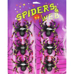 Набор пауков 6 шт декорации на Хэллоуин МА21-785
