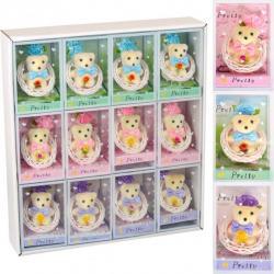 Набор подарочный Мишка в плетеной корзине 13-143