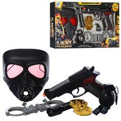 Набор полицейского (маска, пистолет, муз., Свет) H873-75