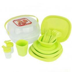 Набор посуды для пикника Stenson 4 персоны 36 предметов, R86498