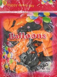 Набор шариков надувных оранжевые и черные на Хэллоуин МА21-47