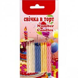 Набор свечей для торта 24 штуки mini 5,5см 24М-5,5