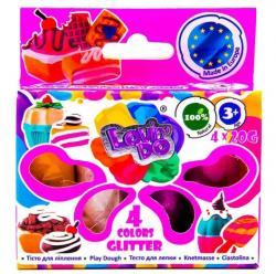 Набор теста для лепки 4 цвета Глиттер 20г Lovin'Do 41029-1
