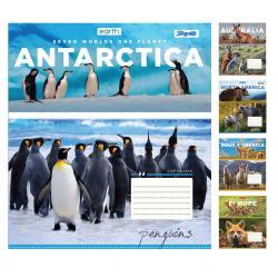 Набор тетрадей 1Вересня Earth animal А5 линия 36 листов 15 штук 764931