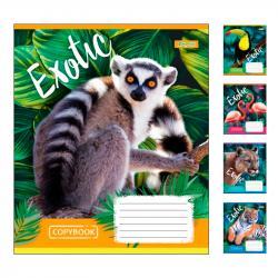 Набор тетрадей 1Вересня  EXOTIC ANIMAL А5 линия 48 листов 10 шт 764642