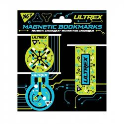 Набор закладок магнитных 3 шт.  Ultrex  YES 707619