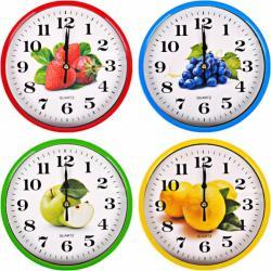 Настенные часы Круг цветной Фрукты Х2-26