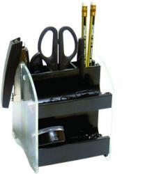 Настольный набор 15 предметов черный 4Office 4-410