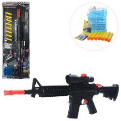 Автомат 66см, водяные пули, мягкие пули-присоски 8 шт., M16-2