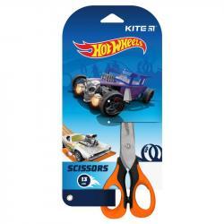 Ножницы детские с резиновыми вставками 13 см  Hot Wheels  Kite, HW21-016