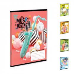 Нотная тетрадь YES MUSIC LOVER А5 12 листов 764029