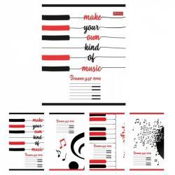 Тетрадь для нот А5 12 листов Fave music 1Вересня 764882