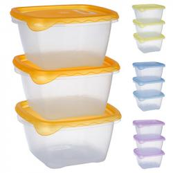 Набор контейнеров для пищевых продуктов Stenson 3 шт. 1.2 л. квадратные, PT-82248