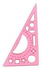 Треугольник 20см с транспортиром розовый IRBIS 00008135
