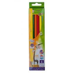 Карандаши цветные 6 цветов  Kids Line  ZIBI ZB.2413