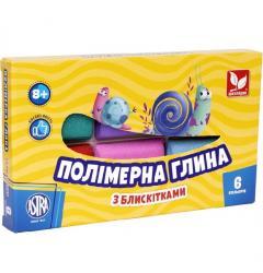 Глина для лепки полимерная 6 цветов ШКОЛЯРИК 304109001-UA