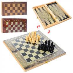 Набор шахматы, шашки, нарды Bambi 28ACD