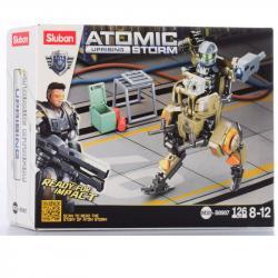 Конструктор космический Робот- воин 126 деталей SLUBAN M38-B0907