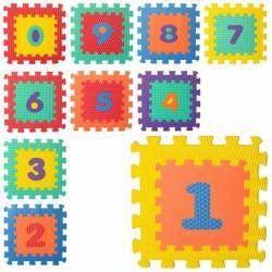 Коврик Мозаика (цифры, 10 деталей, 6 текстур, массаж, пазл) M 5731